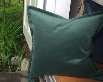 "Caribbean Velvet Cottonluxe Plush Throw Pillow Cover 22""x 22"" Luxurious Thick Soft Velvet Throw Pillow with 1"" Flange"