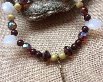 Ethnic/romantic unique glass beaded bracelet