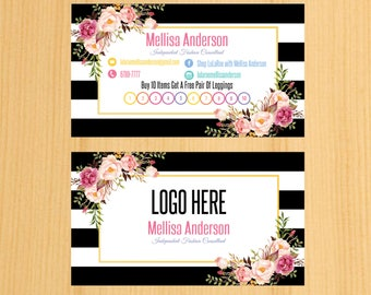 Printable Business  Punch Card, Buy 10 Get 1 Free, Free Leggings Style Marketing Card09 | PC_01