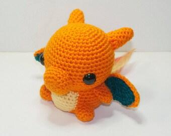Charizard Pokemon Crochet Amigurumi Plushie Handmade