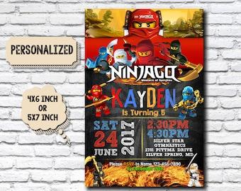 Lego Ninjago Invitation,Lego Ninjago Birthday,Lego Ninjago Party,Lego Ninjago Card,Lego Ninjago Printable,Lego Ninjago,Ninjago,Ninja_BS203