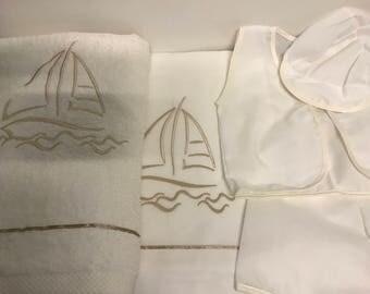 Ladopana Greek baptism set