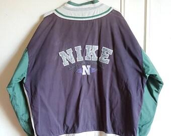 """Jacket / pressure """"1972"""" Vintage 90s Nike jacket Rare L size."""