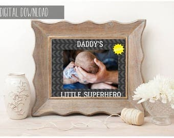 Fathers Day Gift, First Fathers Day, Fathers Day Personalized, Fathers Day Photo, Gift for Dad, Gift for Him, Gift Under 50,Custom Printable