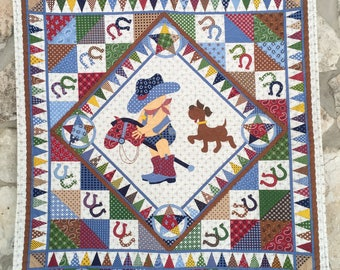 Northcott Giddy Up Baby Boy Quilt Nursery Bedding Western-Themed Cowboy