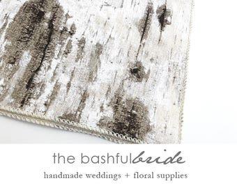 White birch runner, table runner, birch table number, wedding table decor, wedding table, white birch, birch decor, birch wedding, barn