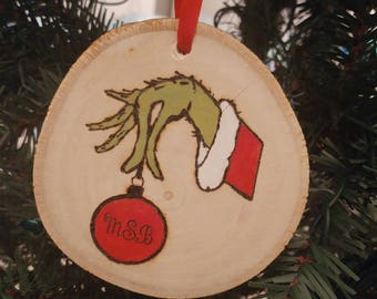 Custom Grinch Ornament