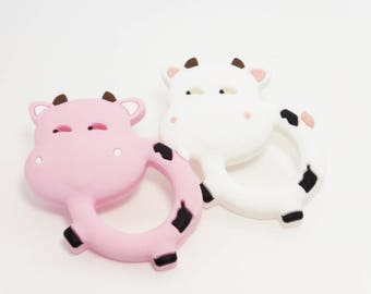 "Silicone teething toy ""p'tites cows in Normandy"""