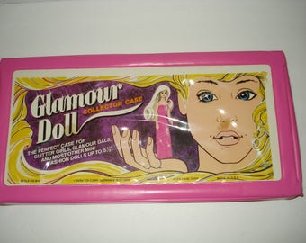 """Glamour Doll Case - never used - perfect case for mini fashion dolls up to 5.5"""""""