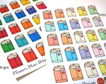 Happy Mail Stickers - Envelope Stickers - Mailer - Planner Stickers - Erin Condren Stickers - Happy Planner Stickers - Functional Stickers