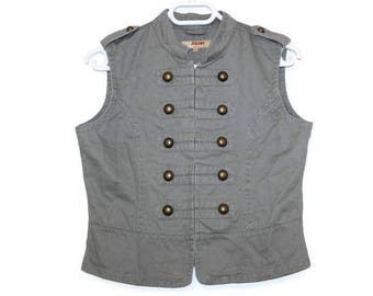 Womens Grey Vest Plaid Vest Womens Vest Fitted Vest Steampunk Romantic Waistcoat Formal Vest Medium Size Formal Fitted Waistcoat Victorian