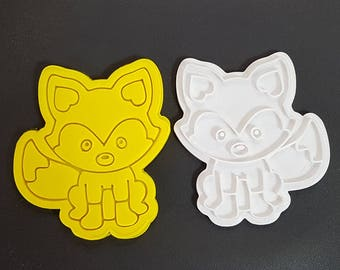 Woodland Fox  Cookie Cutter and Stamp