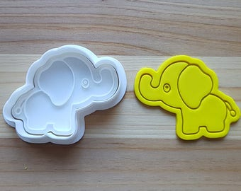Baby Elephant Cookie Cutter and Stamp