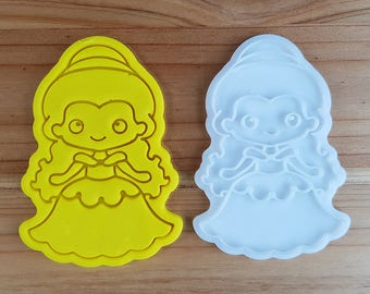 Belle (Beauty and Beast)  Cookie Cutter and Stamp