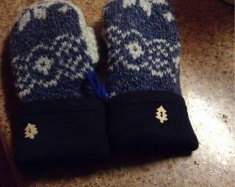 Kids sweater mittens