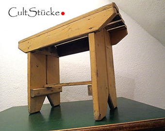 Shabby chic ancient large stool stool bench