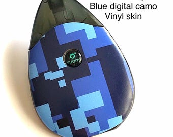 Suorin Drop Vape Skin blue digital camo Skin