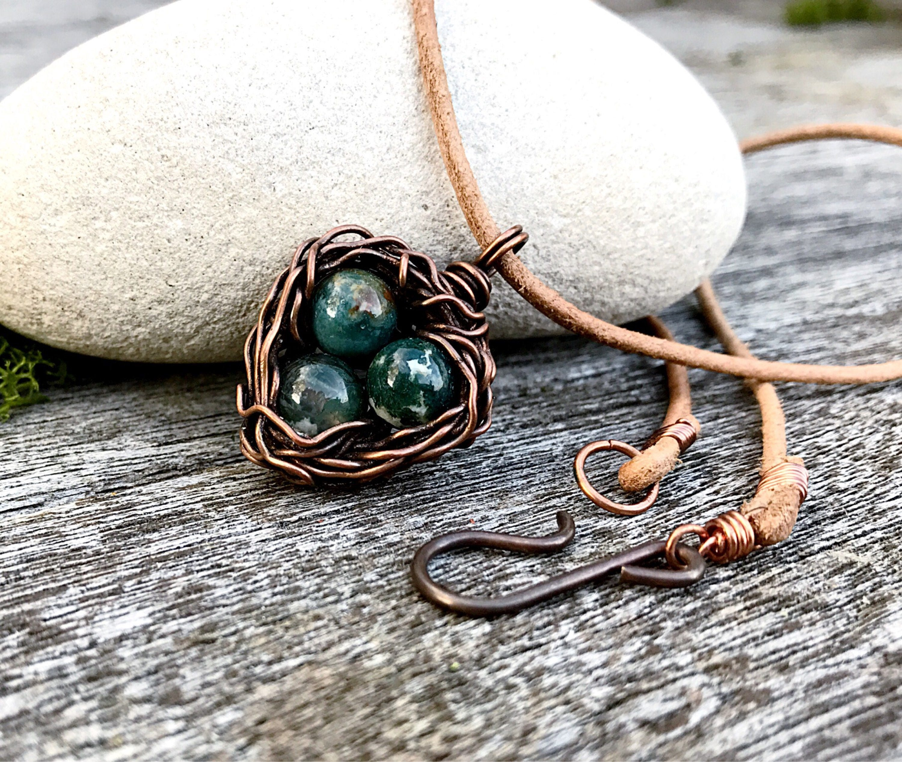 Copper birds nest necklace woodland necklace nature necklace copper birds nest necklace woodland necklace nature necklace boho necklace birds nest pendant unusual necklace wire wrapped aloadofball Choice Image