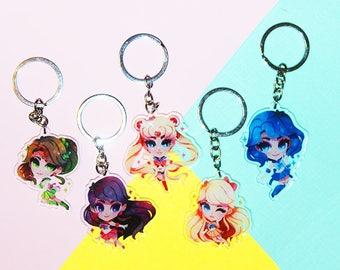 Sailor Moon - Sailor Senshi Keychains/Charms [All Scouts]