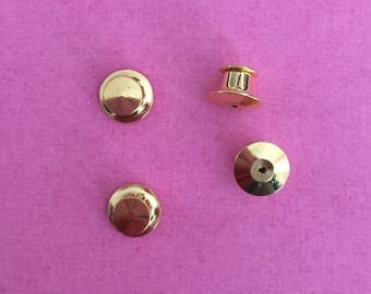 Gold locking pin backs (Choose from 1, 4, and 6 packs)