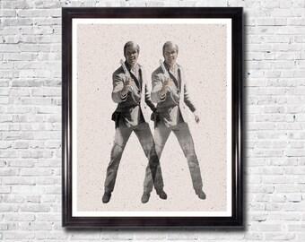 GLEN CAMPBELL - True Grit, Andy Warhol Inspired Art Print, Retro, Poster