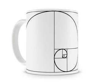 Fibonacci Spiral and Aristotle mug