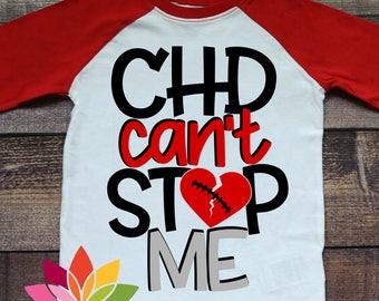 CHD Awareness SVG, CHD Can't Stop Me, Chd Warrior, Heart Awareness, Broken Heart, Chd Shirt, Design, cut file, silhouette cameo, cricut