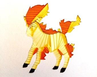 Iris Folding Pokemon - Ponyta