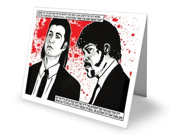 Dead All Over Pulp Fiction 'Hitmen' Greetings Card with envelope C6 Size Valentine/Anniversary