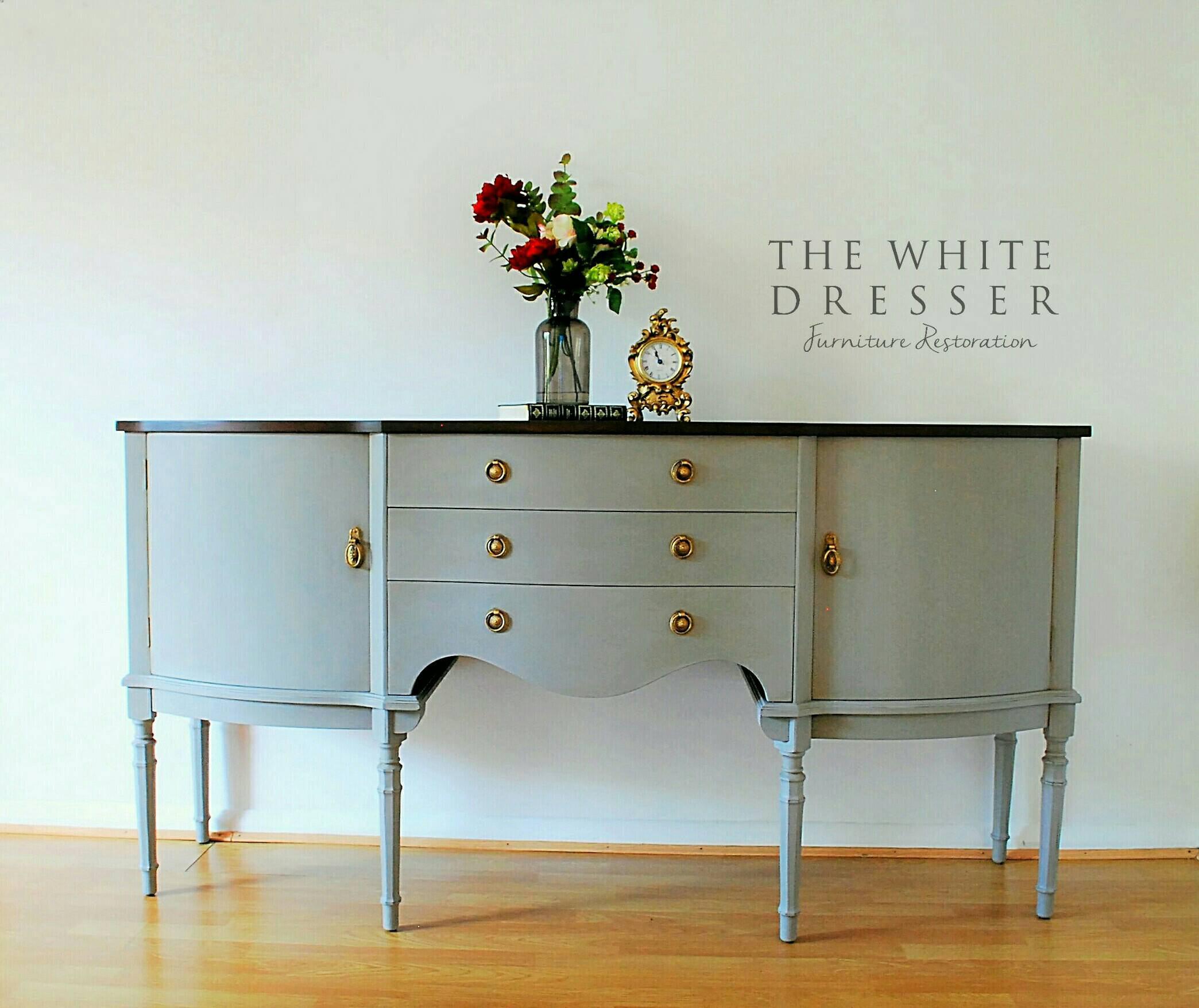 sold vintage sideboard vintage buffet vintage server drink. Black Bedroom Furniture Sets. Home Design Ideas