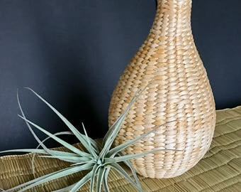 Beautiful seagrass wrapped bottle