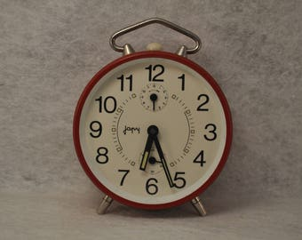 Mechanical alarm clock Japy Red