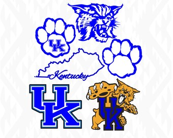 Kentucky Wildcats Designs; SVG, DXF, Ai, Eps, Pdf, Jpeg, Png