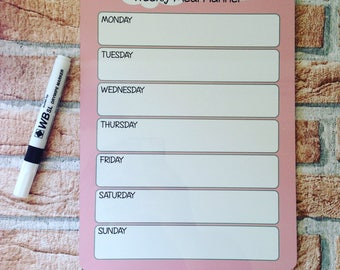 Slimming World Friendly - Weekly Food Planner - Fridge Magnet - Wipe Clean Board - Diet Tracker - Food Log
