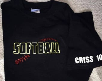 Softball Shirt, Personalized Softball Shirt, Softball player gift, Softball Christmas Gift