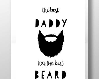 Father's Day gift, Beard print, gift for dad, first father's day, Daddy beard gift, father's day print, beard gift, beard wall art
