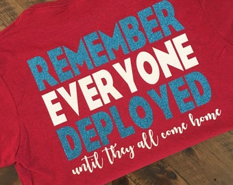 RED Friday Shirt   Deployment   Support Our Military