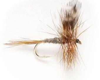 Fishing Flies - 5 Adams Dry Flies - Sizes 12, 14, 16, 18, 20
