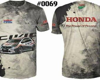 New ultramodern 3D  High Quality Honda gray   Men's T-shirt