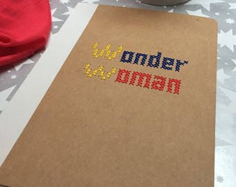 Embroidered cross stitch book