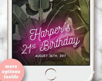 Custom Snapchat Geofilter * Snapchat filter birthday 30th Birthday for her Snap Chat Filter 30th birthday Snapchat Geofilter Neon Sign Snap
