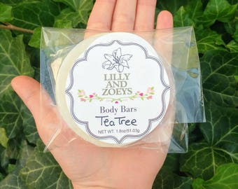 Organic Lotion Bars, Tea Tree Lotion bars, Body balm, Lotion bars, Solid Lotion, Natural moisturizer, Tea Tree, Natural bug repellent