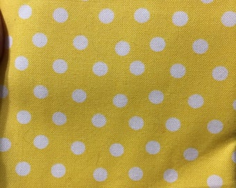 Yellow and White Polka Dot fat quarter