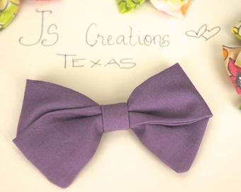 Girls Hair Bows, Fabric Bows, Cute Handmade Bows, Purple Bows, Hair Clips, Handmade