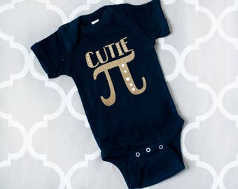 Cutie Pi Bodysuit, Cutie Pi Shirt, Math Baby Gift, Funny Baby Clothes, Math Infant Bodysuit, Math Baby Shirt, Cloth Diaper Friendly Shirt
