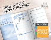WO2P, Week On Two Pages, Travelers Notebook Insert Printable, Personal Size, Bullet Journal Printable, Weekly Planner, MTN, Midori Refill