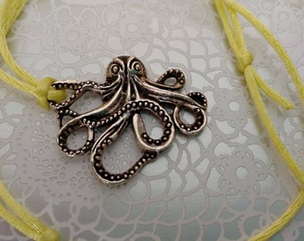 FREE SHIPPING / Silver Plated Octopus Necklace / Jewelry / Pendant / Gift