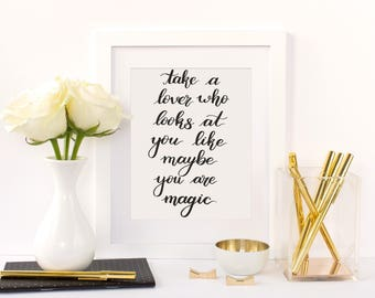 Take A Lover - Quote Print