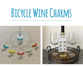 Bicycle Wine Charms