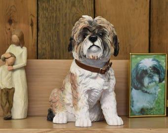Shih Tzu pet memorial ashes urn